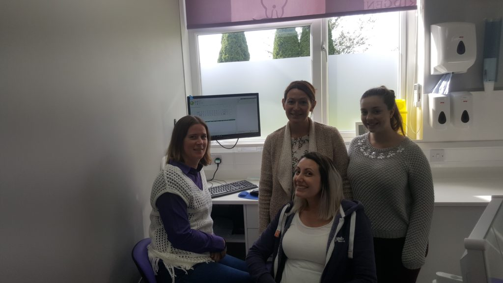 photo - Part of the Bridgend Dental Surgery team enjoying their training on Pearl Dental Software