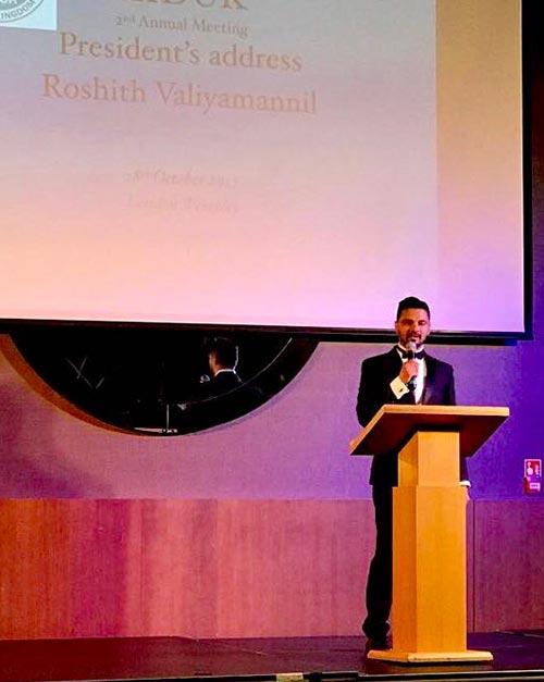 Association of Indian Dentists president Roshith Valiyamannil address to dental professionals