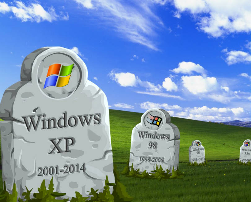 graphic - RIP Windows XP