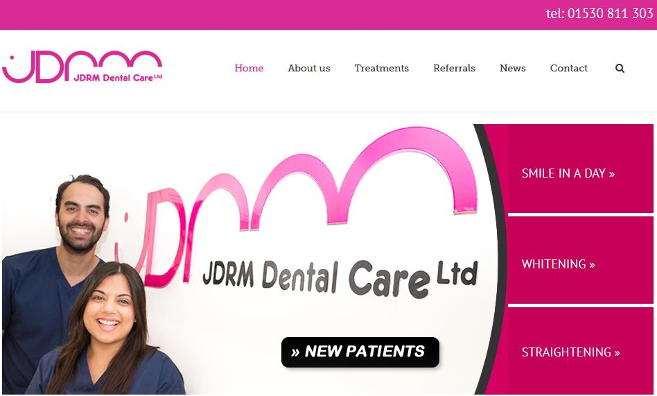 screen shot - JDRM Website
