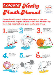 Colgate Healthy Mouth Manual poster