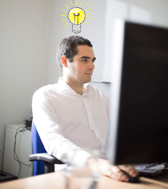 Photo - Ben with lightbulb