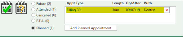 Screen shot - Appointment Type